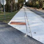 New Sidewalk Ramp with ADA Detectable Warnings