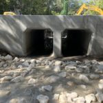 New Concrete Box Culverts Under Roadway